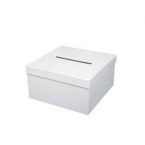 tirelire - urne carrée blanche