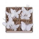lot de 8 papillons pailletés sur pince