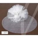 lot de 25 ronds de tulle blanc avec strass