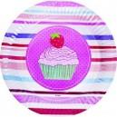 Vaisselle jetable cartonnée thème cup cake